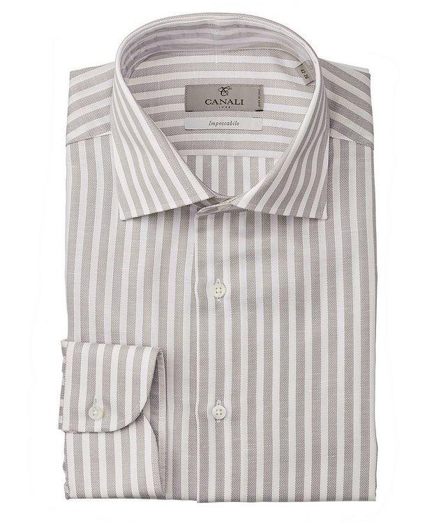 Slim-Fit Impeccabile Cotton-Linen Dress Shirt picture 1