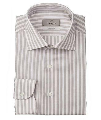 Canali Slim-Fit Impeccabile Cotton-Linen Dress Shirt