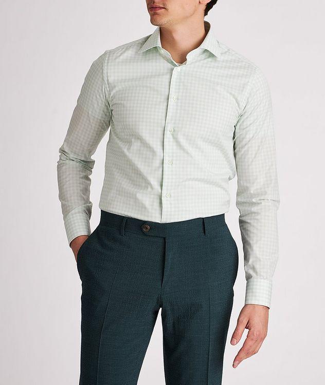 Slim-Fit Gingham Cotton Dress Shirt picture 2