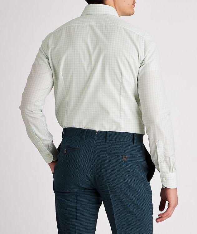 Slim-Fit Gingham Cotton Dress Shirt picture 3