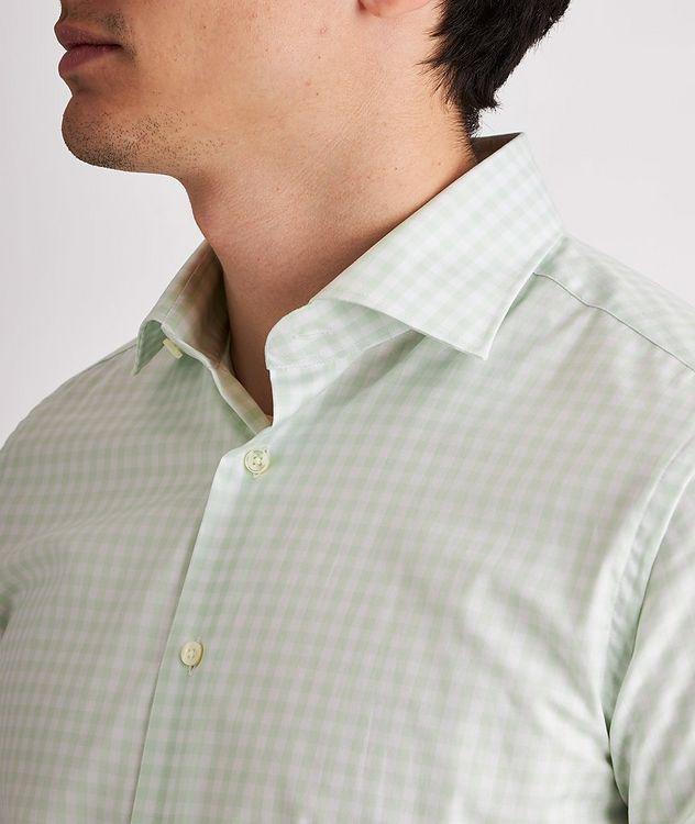 Slim-Fit Gingham Cotton Dress Shirt picture 4