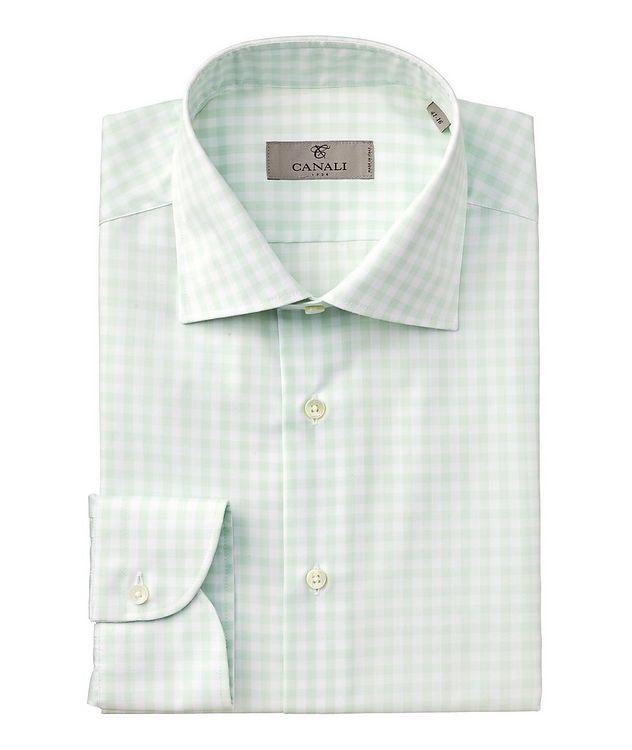 Slim-Fit Gingham Cotton Dress Shirt picture 1