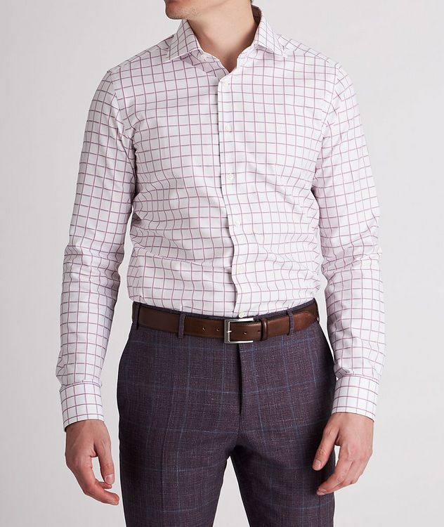 Slim-Fit Checked Cotton Dress Shirt picture 2