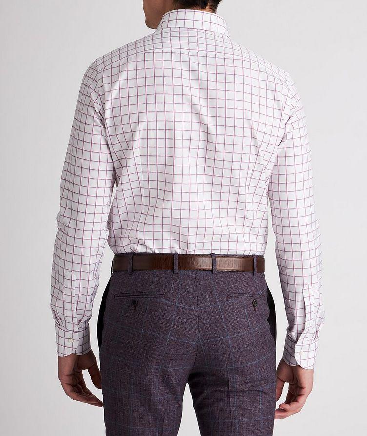 Slim-Fit Checked Cotton Dress Shirt image 2