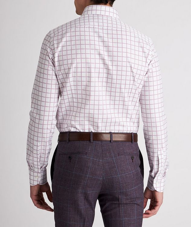Slim-Fit Checked Cotton Dress Shirt picture 3