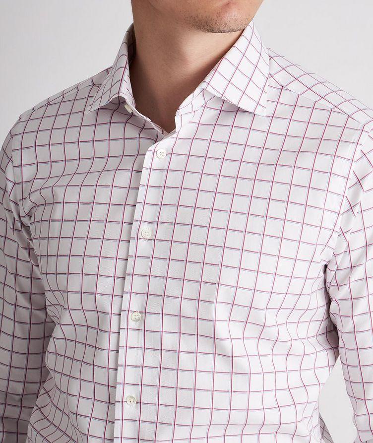 Slim-Fit Checked Cotton Dress Shirt image 3