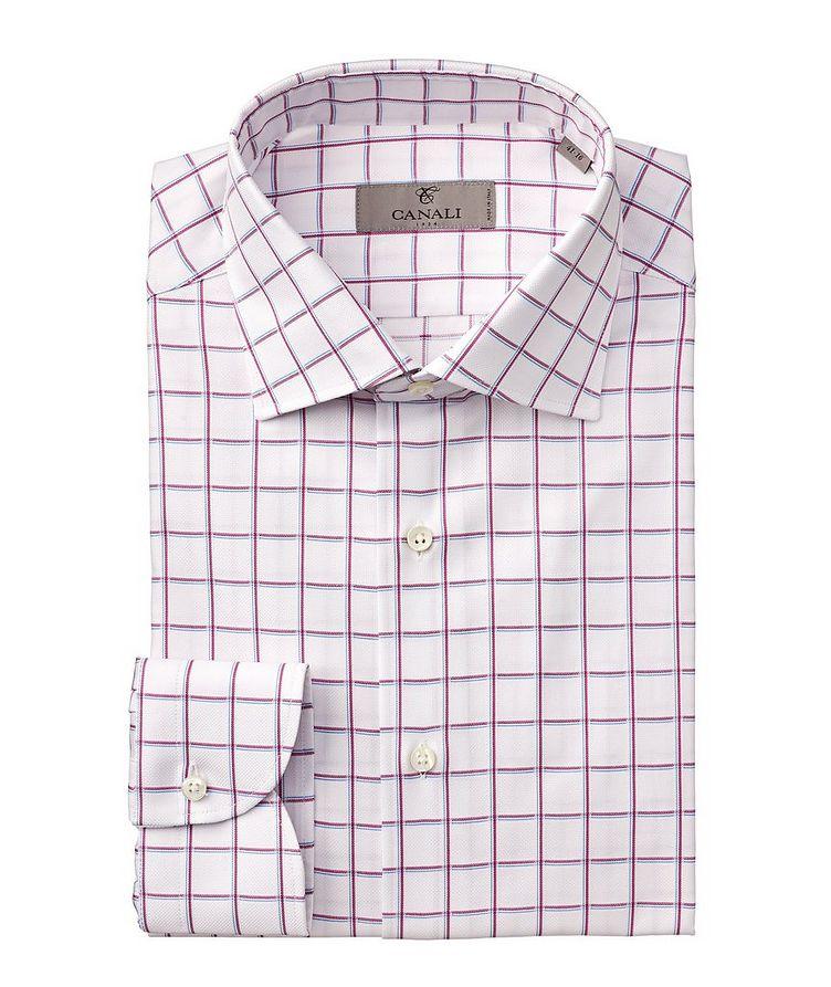 Slim-Fit Checked Cotton Dress Shirt image 0