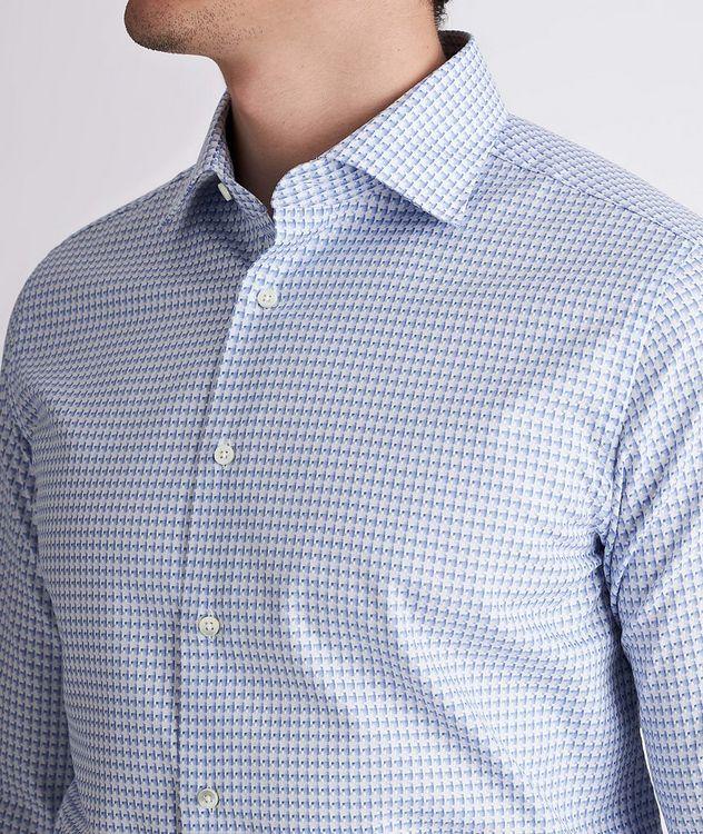 Slim-Fit Woven Cotton Dress Shirt picture 4