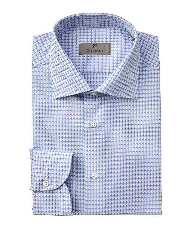 Slim-Fit Woven Cotton Dress Shirt picture 1