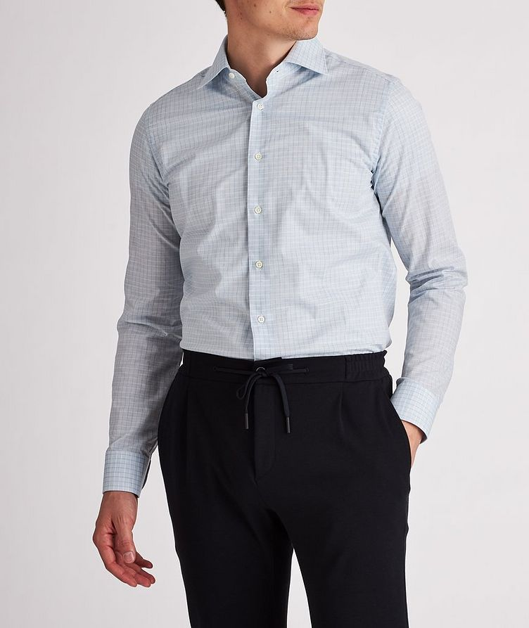 Slim-Fit Checked Cotton Dress Shirt image 1