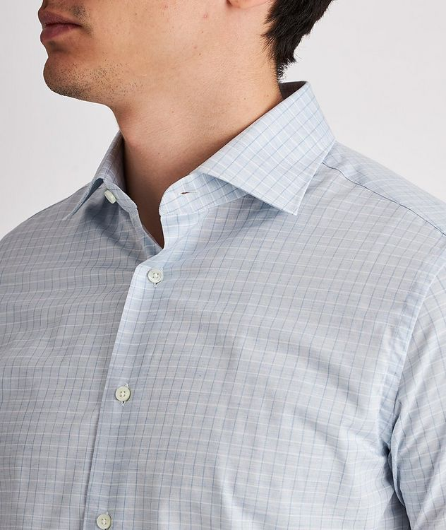 Slim-Fit Checked Cotton Dress Shirt picture 4