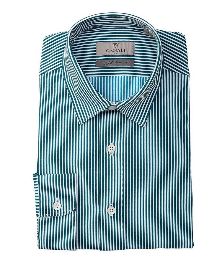 Slim-Fit Striped Stretch Shirt image 0