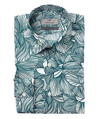 Canali Slim Fit Floral Printed Shirt