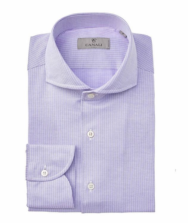 Contemporary-Fit Striped Cotton Shirt picture 1