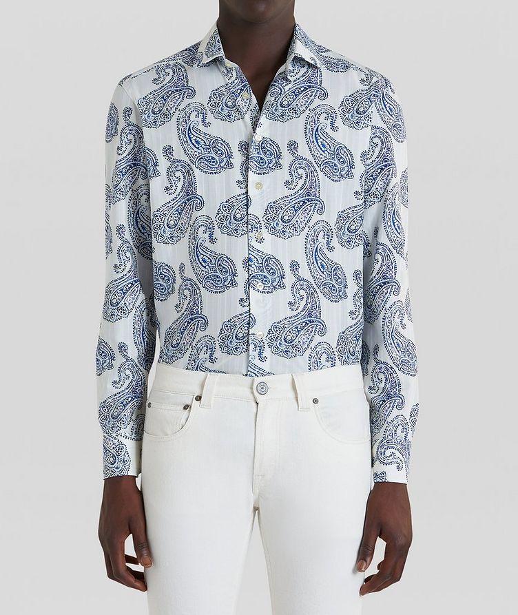 Contemporary-Fit Paisley Cotton Shirt image 2