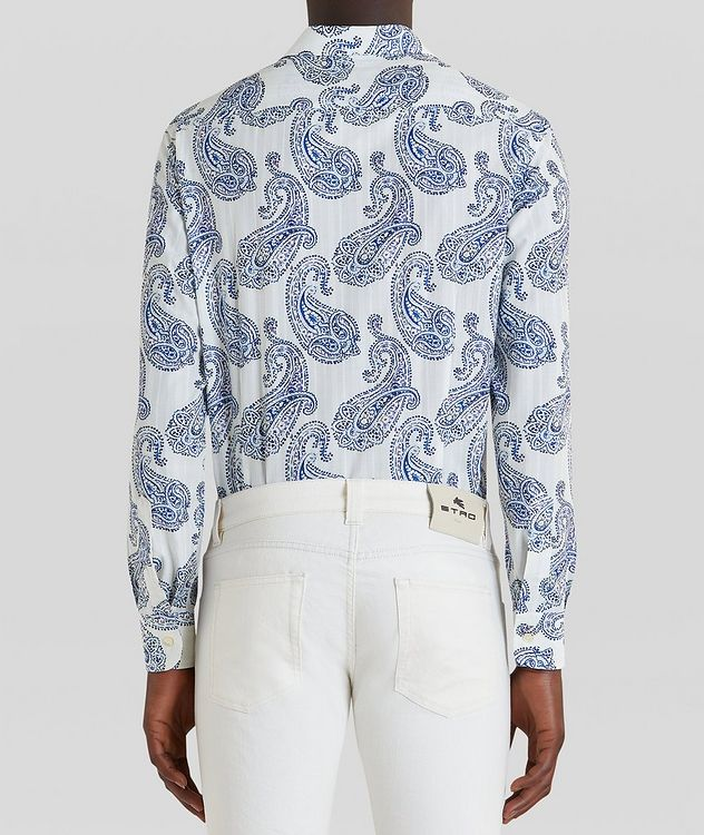 Contemporary-Fit Paisley Cotton Shirt picture 4