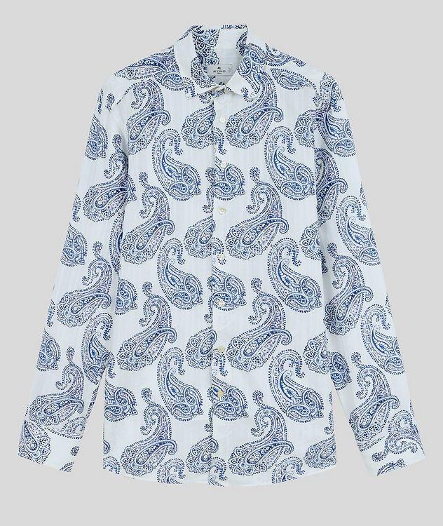 Contemporary-Fit Paisley Cotton Shirt picture 1