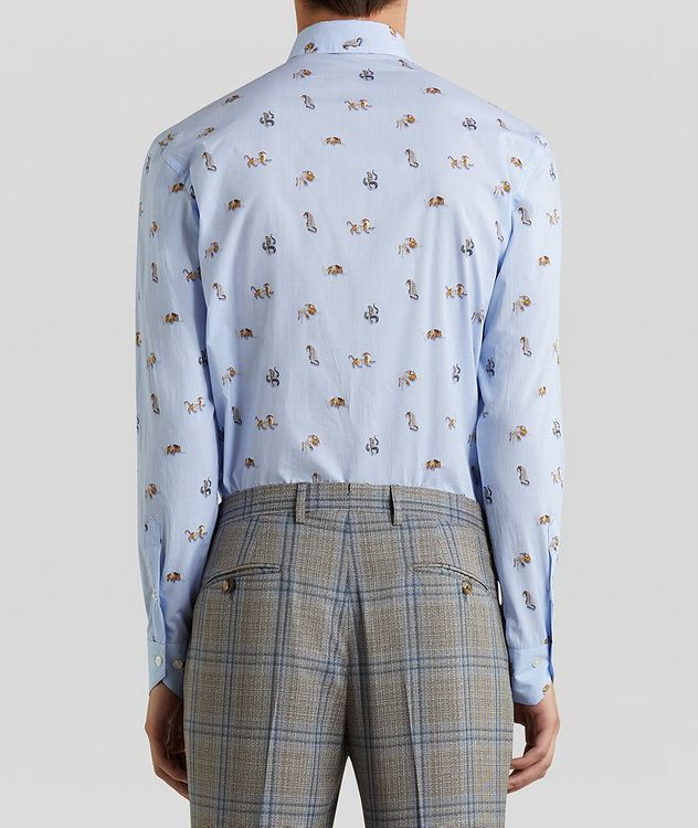 Contemporary-Fit Printed Cotton Shirt picture 4