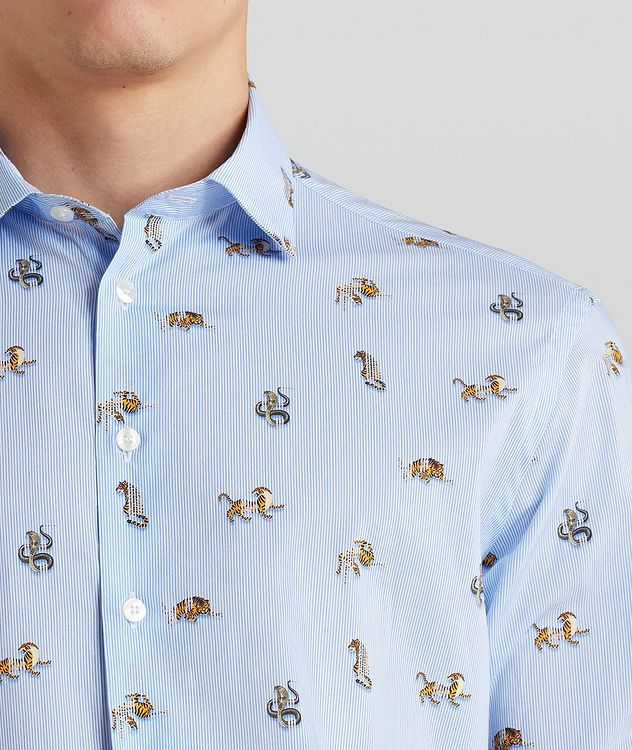 Contemporary-Fit Printed Cotton Shirt picture 5