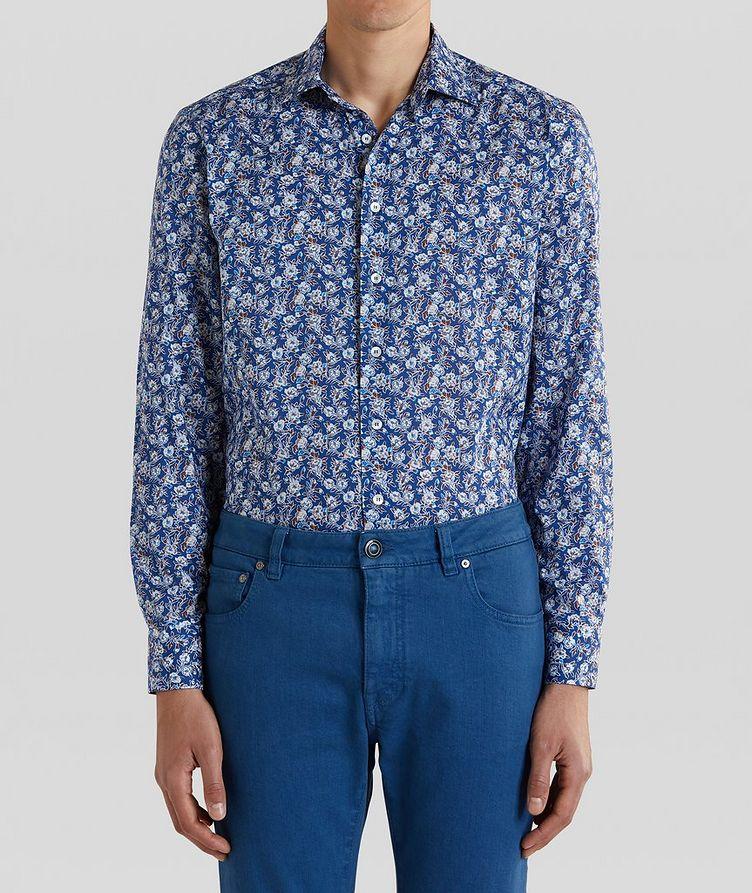 Contemporary-Fit Botanical Cotton Shirt image 0