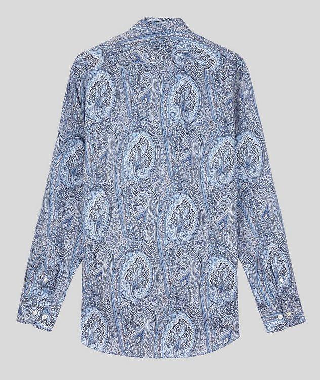 Contemporary-Fit Paisley Cotton Shirt picture 2