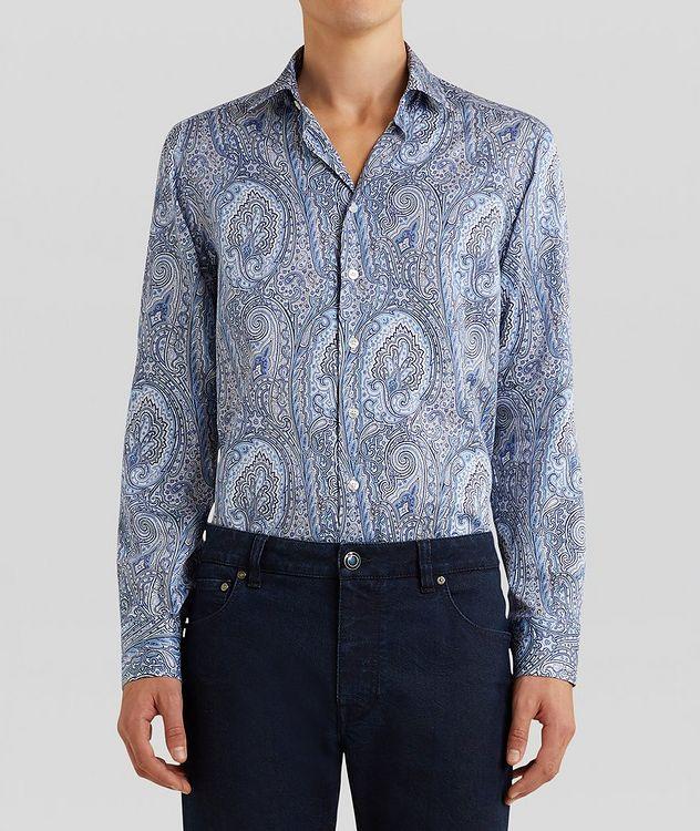 Contemporary-Fit Paisley Cotton Shirt picture 3