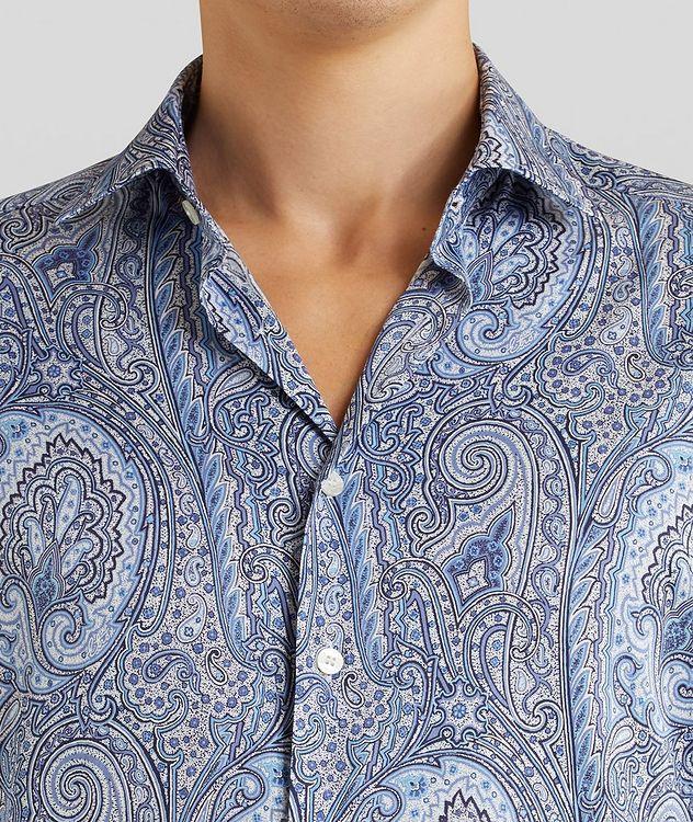 Contemporary-Fit Paisley Cotton Shirt picture 5