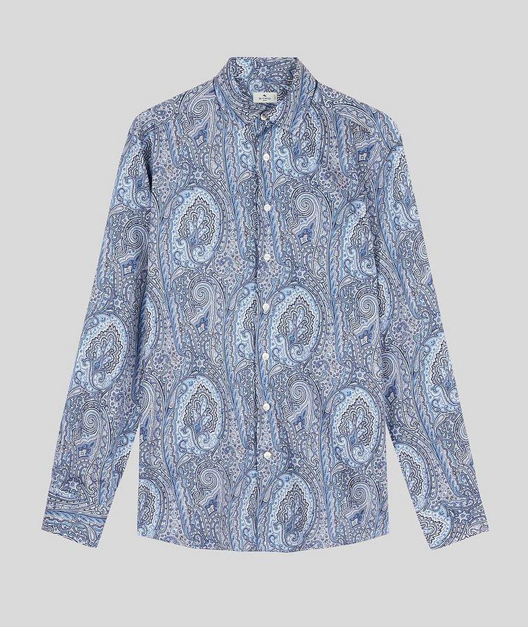 Contemporary-Fit Paisley Cotton Shirt image 0