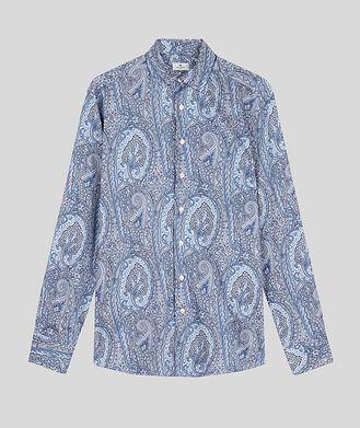 Etro Chemise en coton à motif paisley de coupe contemporaine