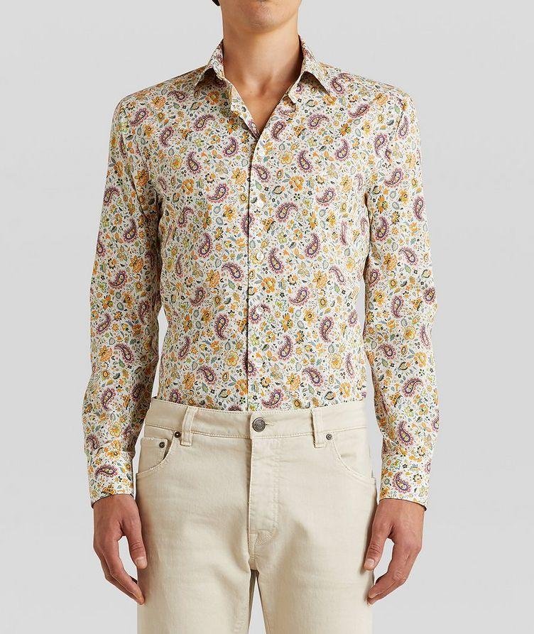 Chemise en coton à motif paisley de coupe contemporaine image 0
