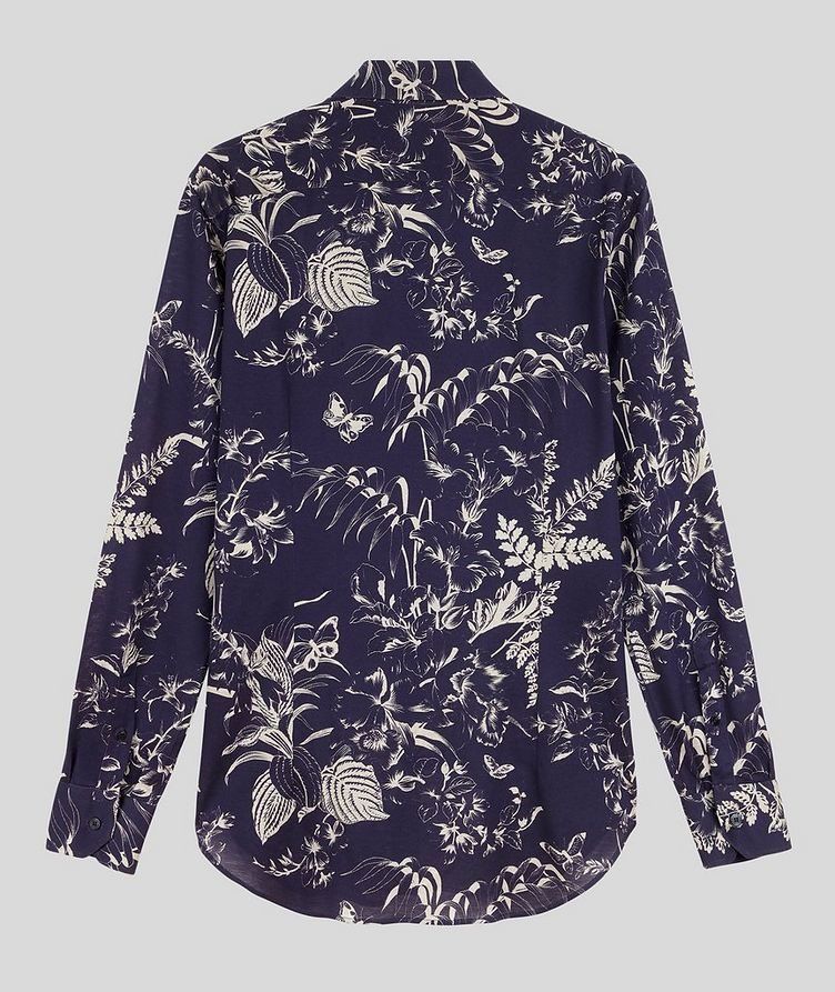 Contemporary-Fit Botanical Cotton Shirt image 1