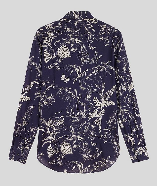 Contemporary-Fit Botanical Cotton Shirt picture 2