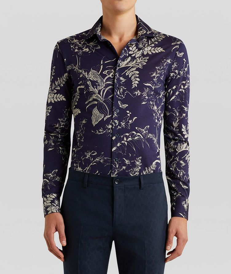 Contemporary-Fit Botanical Cotton Shirt image 2