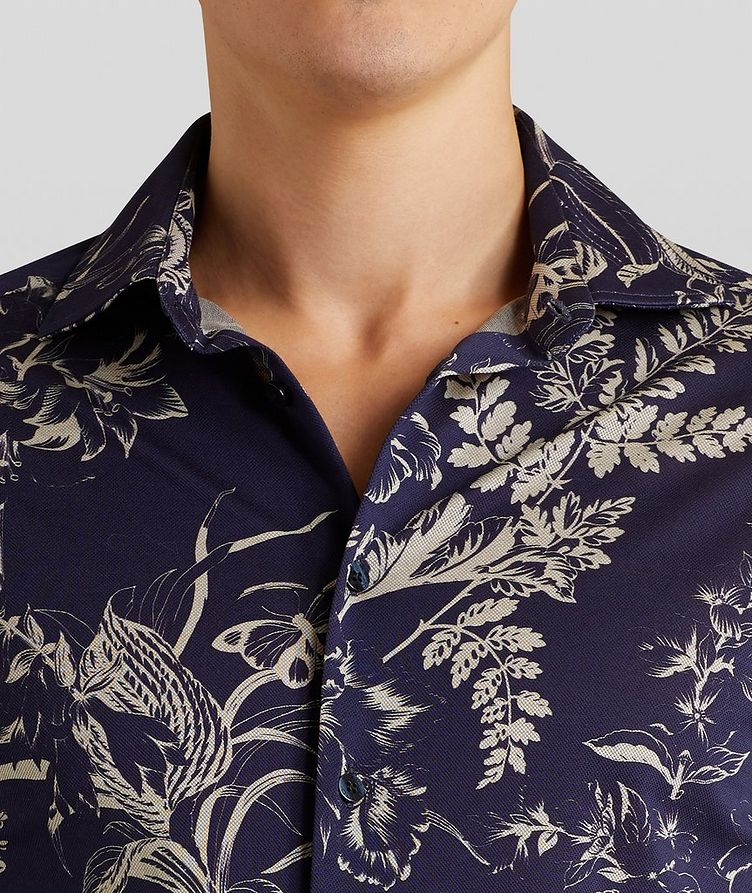 Contemporary-Fit Botanical Cotton Shirt image 4