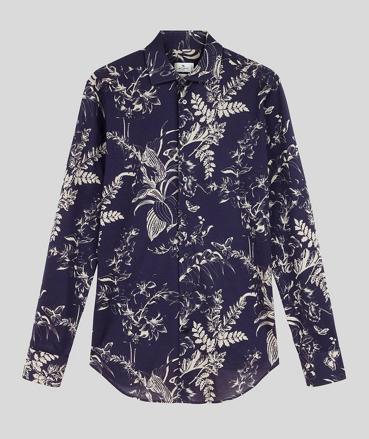 Contemporary-Fit Botanical Cotton Shirt image 0