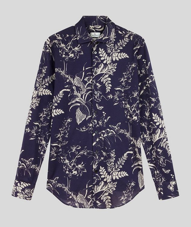 Contemporary-Fit Botanical Cotton Shirt picture 1