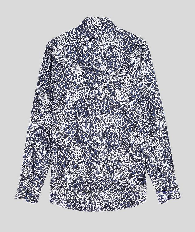 Contemporary-Fit Leopard Cotton Shirt picture 2
