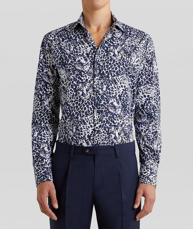Contemporary-Fit Leopard Cotton Shirt picture 3