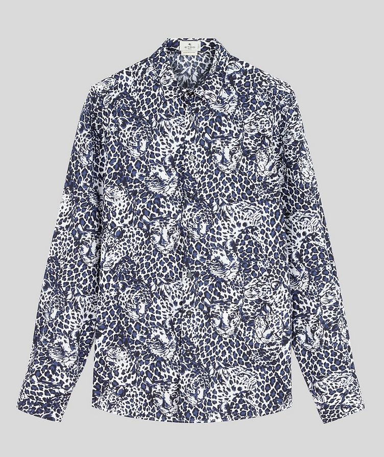 Contemporary-Fit Leopard Cotton Shirt image 0
