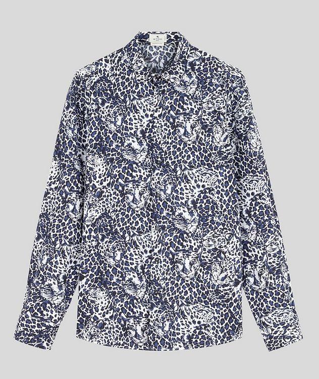 Contemporary-Fit Leopard Cotton Shirt picture 1