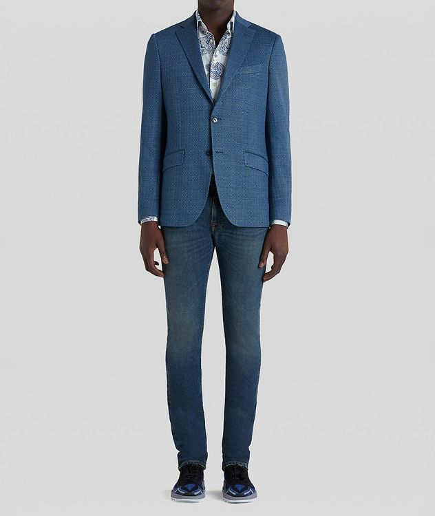 Silk-Lined Linen Blend Sports Jacket picture 3