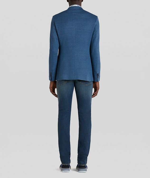 Silk-Lined Linen Blend Sports Jacket picture 4