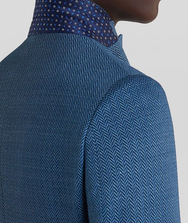 Silk-Lined Linen Blend Sports Jacket picture 5