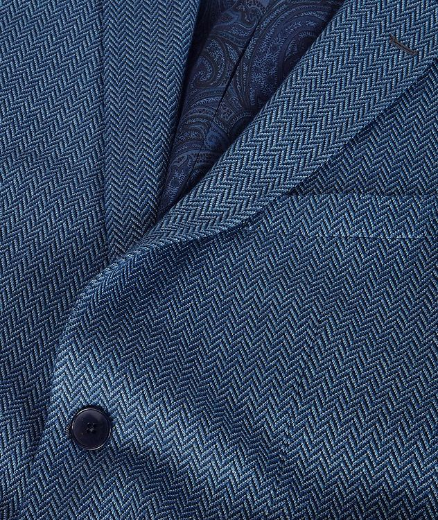 Silk-Lined Linen Blend Sports Jacket picture 6