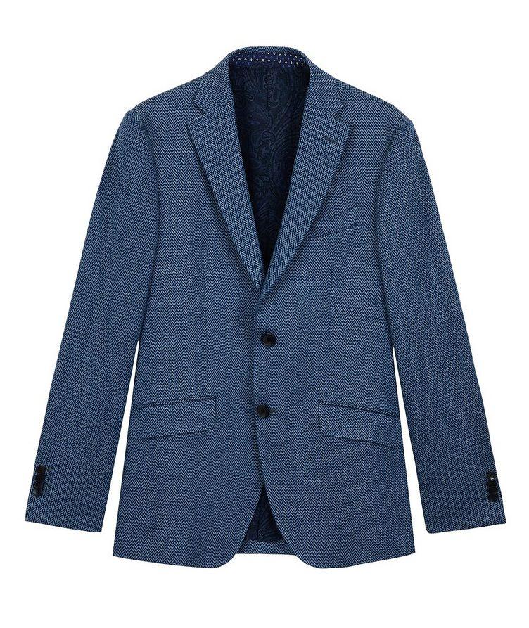 Silk-Lined Linen Blend Sports Jacket image 0