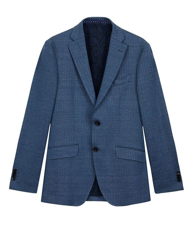Silk-Lined Linen Blend Sports Jacket picture 1