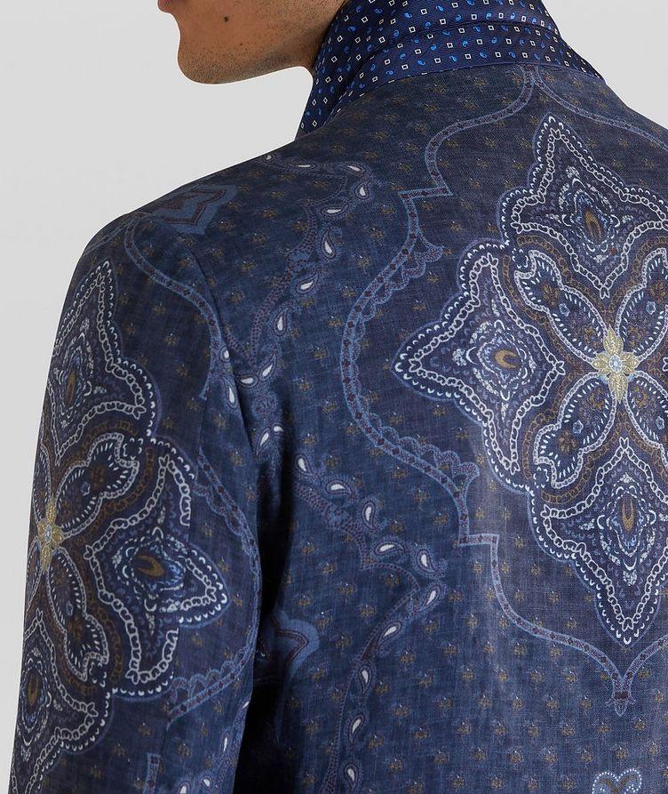 Paisley Print Linen Sports Jacket image 4