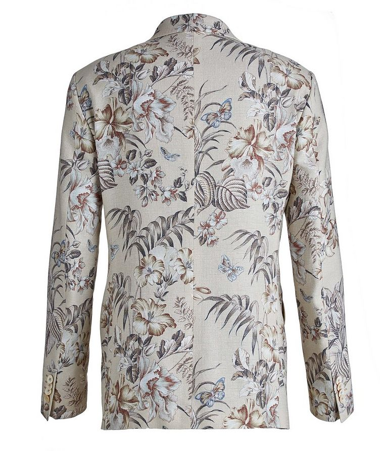 Botanical Linen, Silk, and Cotton Sports Jacket image 1