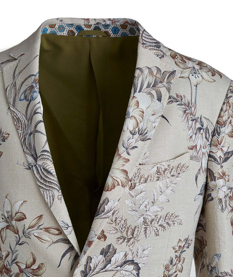 Botanical Linen, Silk, and Cotton Sports Jacket image 2