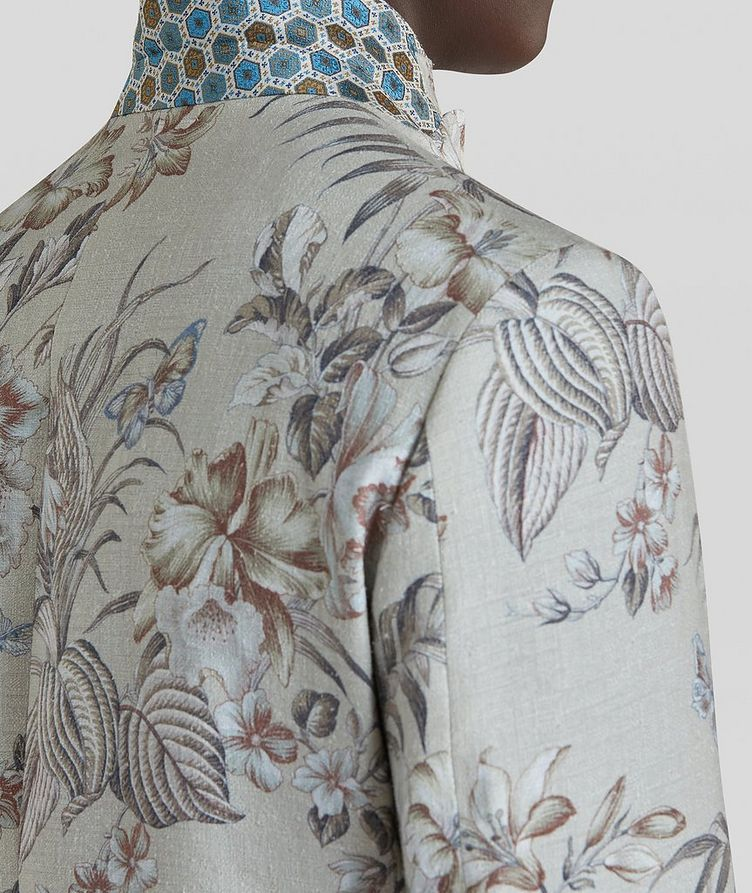 Botanical Linen, Silk, and Cotton Sports Jacket image 4